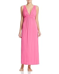 Natori Aphrodite Shirred Long Gown Tropical Pink