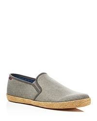 Ben Sherman Jenson Slip On Sneakers Compare At 85 Grey Linen