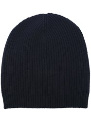 P.A.R.O.S.H. Ribbed Beanie Hat Blue
