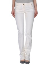 Valentino Roma Denim Pants White