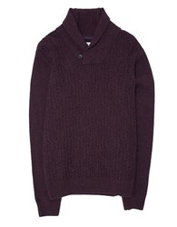 Ben Sherman Cableknit Wool Sweater Red Curry