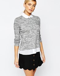 Fashion Union 2 In 1 Shirt Jumper Grey