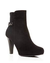 Paul Green Destiny Chain High Heel Booties Black