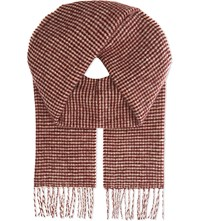 Johnstons Brodie Cashmere Wool Chunky Scarf Red
