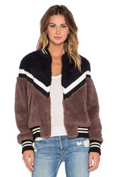 Essentiel Keegan Faux Fur Jacket Brown