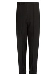 Isabel Marant Jo Tapered Leg Cropped Wool Trousers Black