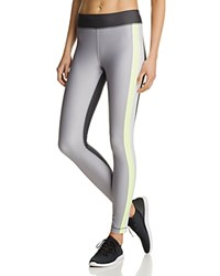 Under Armour Heatgear Color Block Leggings Carbon Heather X Ray Metallic Silver