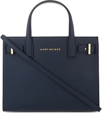 Kurt Geiger London Saffiano Leather Tote Navy