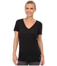 Adidas 24 Seven Deep V Neck Tee Black Women's Workout