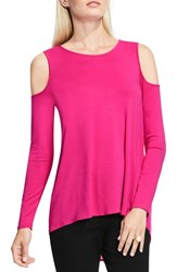 Vince Camuto Women's Cold Shoulder Top Pink Nectar