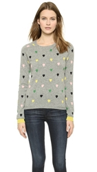 Chinti And Parker Color Heart Sweater Grey Marl Multi