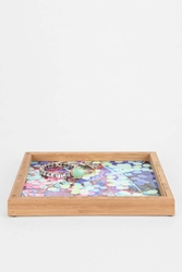 Deny Designs Nick Nelson For Deny Dots And Leaves Tray Multi
