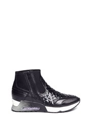 Ash 'Legend' Tribal Embossed Scuba Sock Sneakers Black