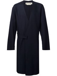 Marni Double Breasted Coat Blue