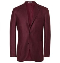 Boglioli Red Slim Fit Wool Blazer Red