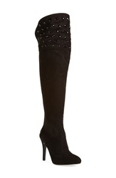 Nina 'Kenlyn' Over The Knee Pointy Toe Boot Women Black Suede