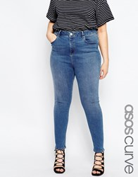 Asos Curve Ridley Ankle Grazer Jean In Whistler Wash Stone