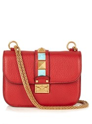 Valentino Lock Rolling Small Leather Shoulder Bag Red
