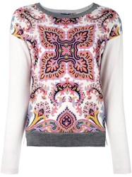 Etro Paisley Print Sweater Nude And Neutrals