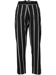 Vivienne Westwood Red Label Striped Trousers Black