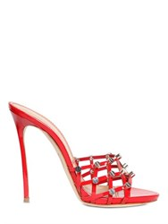 Dsquared 120Mm Studded Patent Leather Mules