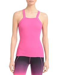 2Xist 2 X Ist Square Neck Ribbed Tank Very Berry
