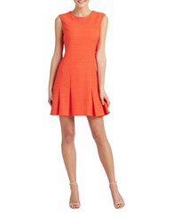 Donna Morgan Textured Fit And Flare Dress Headlight