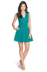 Women's Felicity And Coco Back Cutout Fit And Flare Dress Dark Turquoise