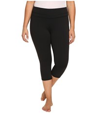 Lucy Extended Studio Hatha Capri Leggings Black Women's Workout