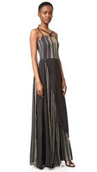 Zeus Dione Aura Maxi Dress Black Gold