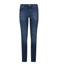 7 For All Mankind Kimmie Slim Illusion Straight Leg Jeans Female Blue