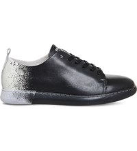 Pantone Nyc Leather Trainers Pirate Black White