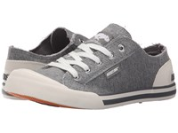Rocket Dog Jazzin Grey Summer Jersey Women's Lace Up Casual Shoes Gray