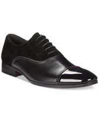 Bar Iii Gabriel Mixed Patent Cap Toe Oxfords Only At Macy's Men's Shoes Black