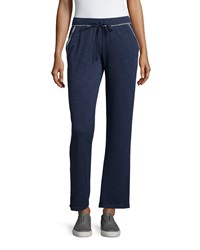Max Studio Weekend French Terry Lounge Pants Faded Indigo