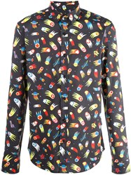 Love Moschino Allover Print Shirt Black