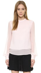 Antonio Berardi Long Sleeve Blouse Blush