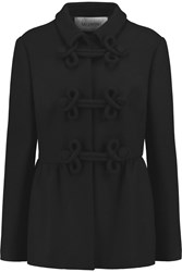 Valentino Peplum Wool Blend Jacket Black