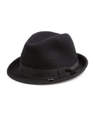 Block Headwear Wool Fedora Black