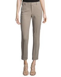 Ralph Lauren Lightweight Wool Crepe Ankle Pants Truffle