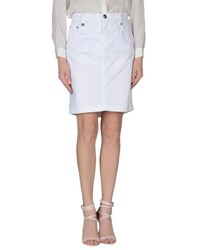 Blu Byblos Skirts Knee Length Skirts Women White