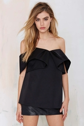 Nasty Gal Cameo Feel Real Pleated Top