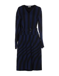 Dries Van Noten Dresses Knee Length Dresses Women Dark Blue