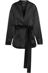 Michael Lo Sordo Sensei Silk Satin Blouse Black