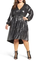 Melissa Mccarthy Seven7 Plus Size Women's Metallic Fit And Flare Dress