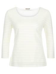 Planet Striped Textured Top Lemon