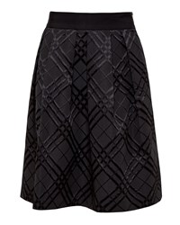 Ted Baker Mansii Checked Midi Skirt Black