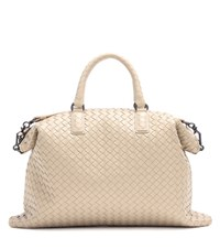 Bottega Veneta The Convertible Intrecciato Leather Tote Beige