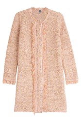 M Missoni Textured Coat With Cotton Multicolor