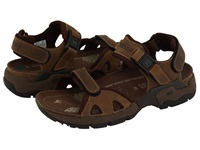 Allrounder By Mephisto Alligator Brown Waxy Leather Dark Brown Neoprene Men's Sandals